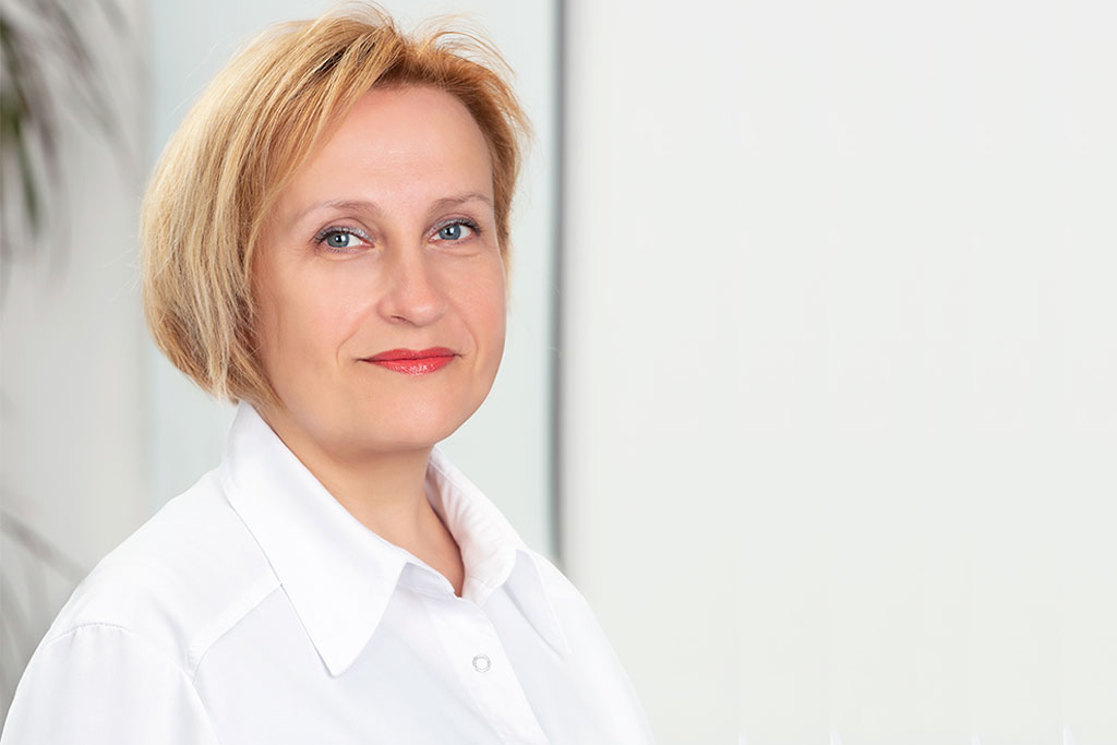 Veselības centru apvienības poliklīnikas Pulss un Aiwa Clinic oftalmoloģe Irina Korņilova.