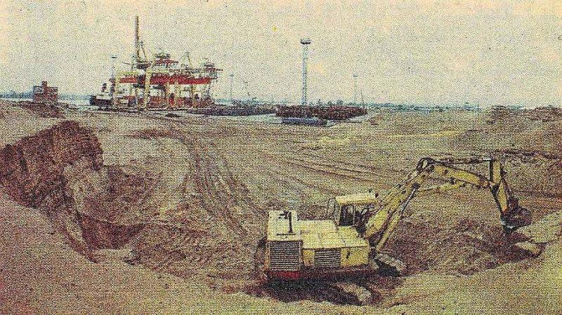 Termināļa būve 1981. gadā.