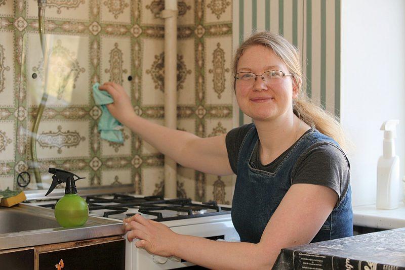 Liene Kņaze dod priekšroku pašgatavotiem mājas tīrīšanas līdzekļiem, tostarp etiķim.