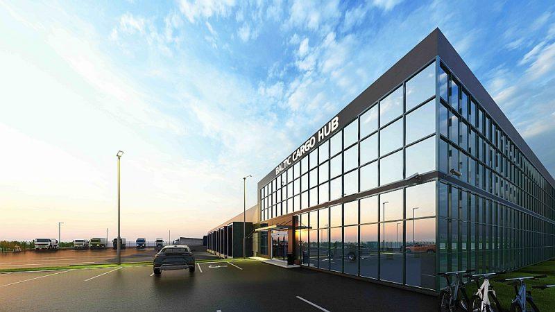 """Lidsabiedrība """"Air Baltic"""" Rīgas lidostā būvēs jaunu kravu angāru """"Baltic Cargo Hub"""", kas būs Baltijā lielākais kravu apstrādes centrs – tas ļaus ik gadu apstrādāt vairāk nekā 30 000 tonnu kravu."""