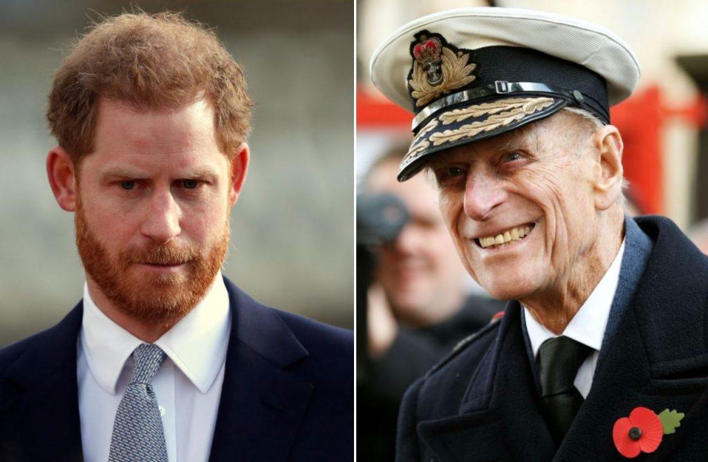 Princis Harijs (no kreisās) un princis Filips (no labās).
