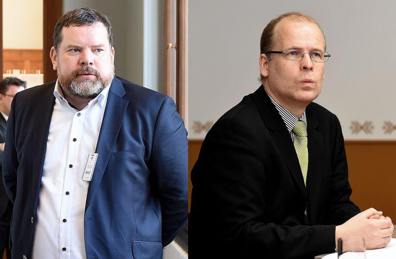 Konservatīvo studiju centra dibinātāji – Andis Kudors un Jānis Hermanis.