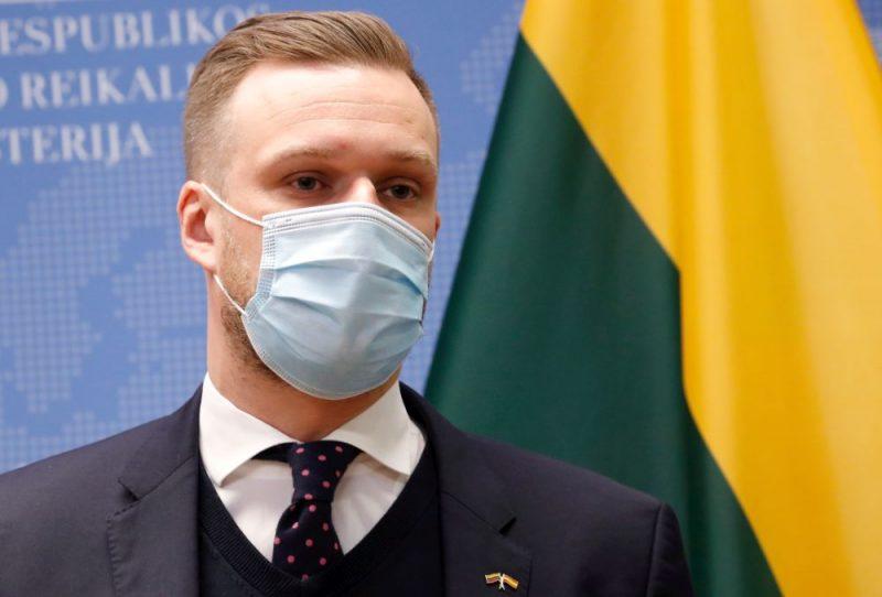 Lietuvas ārlietu ministrs Gabrieļus Landsberģis.