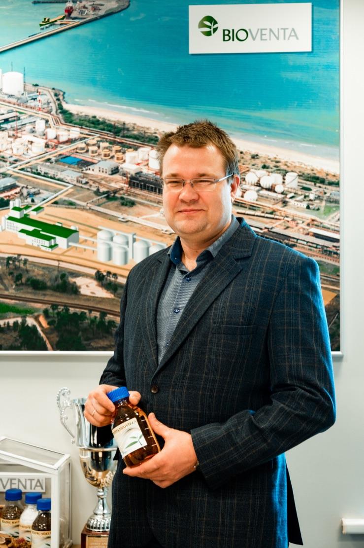 """Indulis Stikāns, SIA """"Bio-Venta"""" ražošanas direktors un valdes loceklis."""