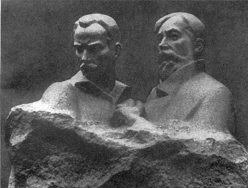 Idealizētie J. Šilfa un A. Arāja tēli Latvijas PSR tēlniecībā.