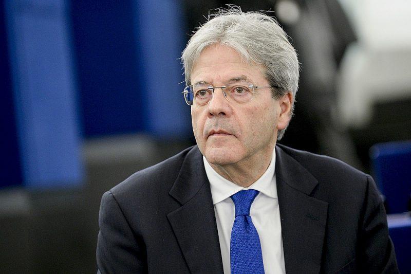 Paolo Džentiloni, Eiropas ekonomikas komisārs un bijušais Itālijas premjerministrs.