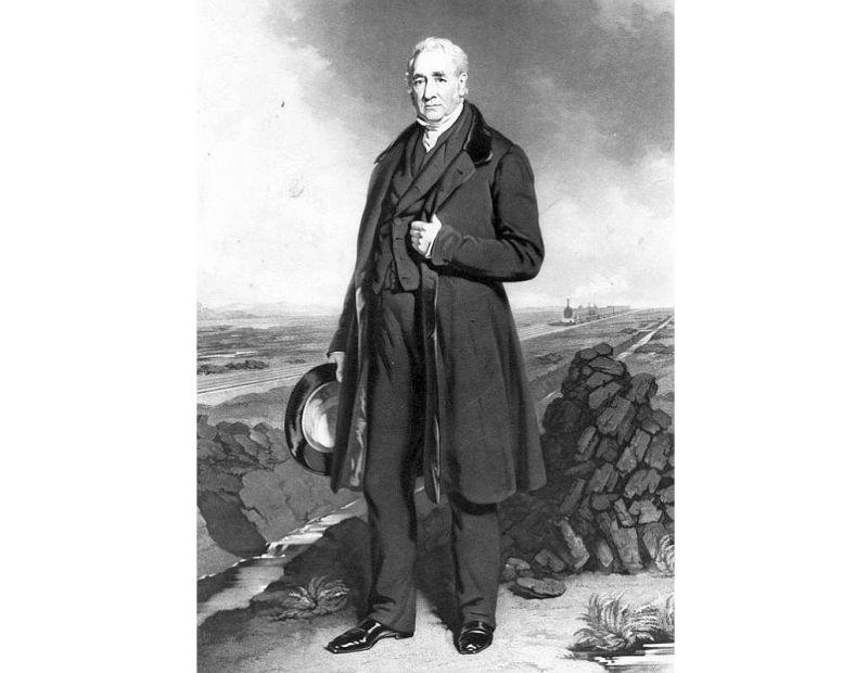 Džordžs Stefensons (1781–1848).