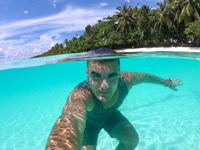 Viesturs Saldavs Indijas okeāna un Maldivu salu burvībā.