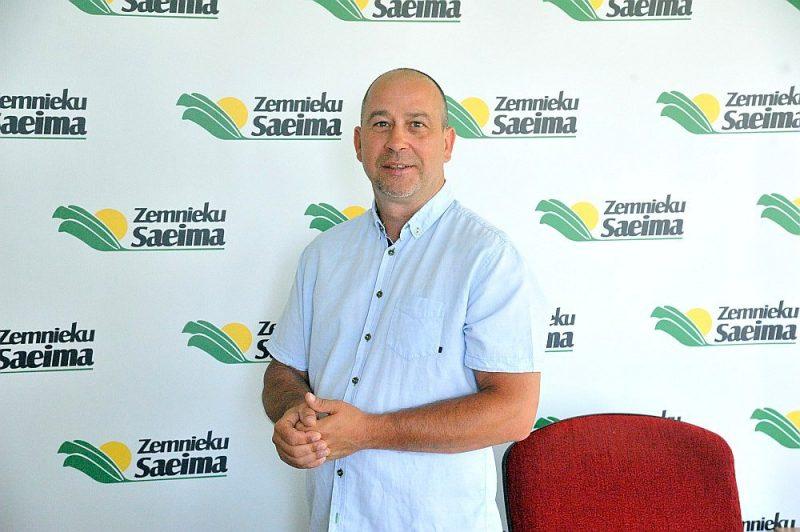 """Biedrības """"Zemnieku saeima"""" valdes priekšsēdētājs Juris Lazdiņš."""