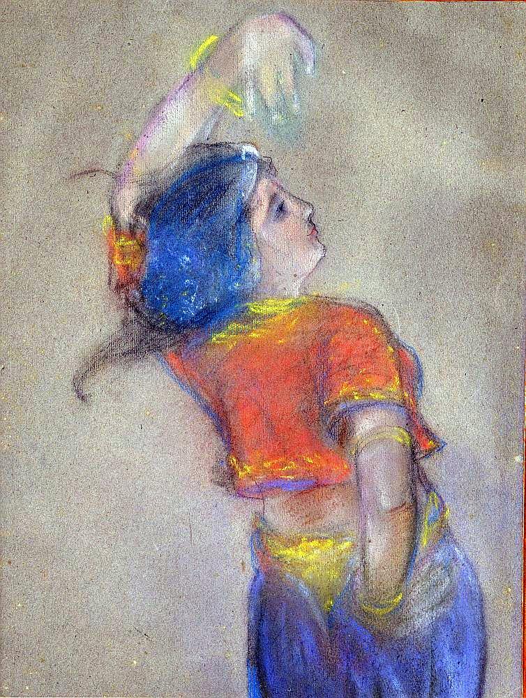 """Gustavs Šķilters, """"Spāniešu dejotāja"""", 1908."""