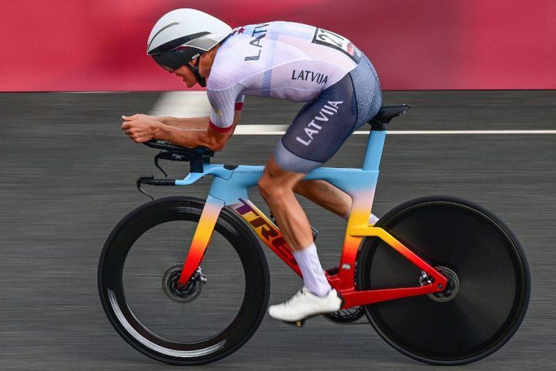 Latvijas riteņbraucējs Toms Skujiņš Tokijas olimpiskajās spēlēs