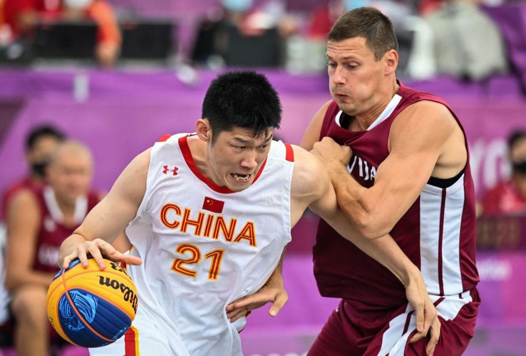 Latvija – Ķīna 3×3 basketbola spēle 25.jūlijā Tokijas olimpiskajās spēlēs.