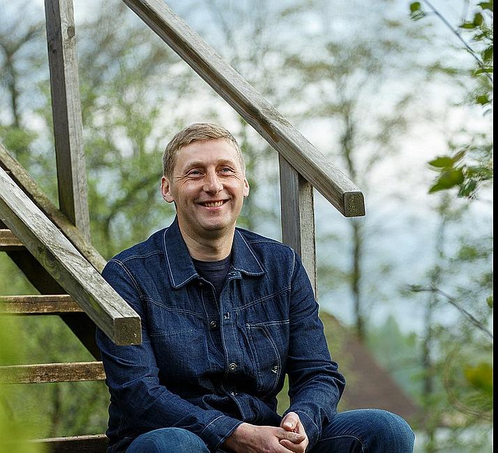 """Gustavs Norkārklis, Latvijas Bioloģiskās lauksaimniecības asociācijas vadītājs, bioloģiskās z/s """"Salenieki"""" saimnieks."""