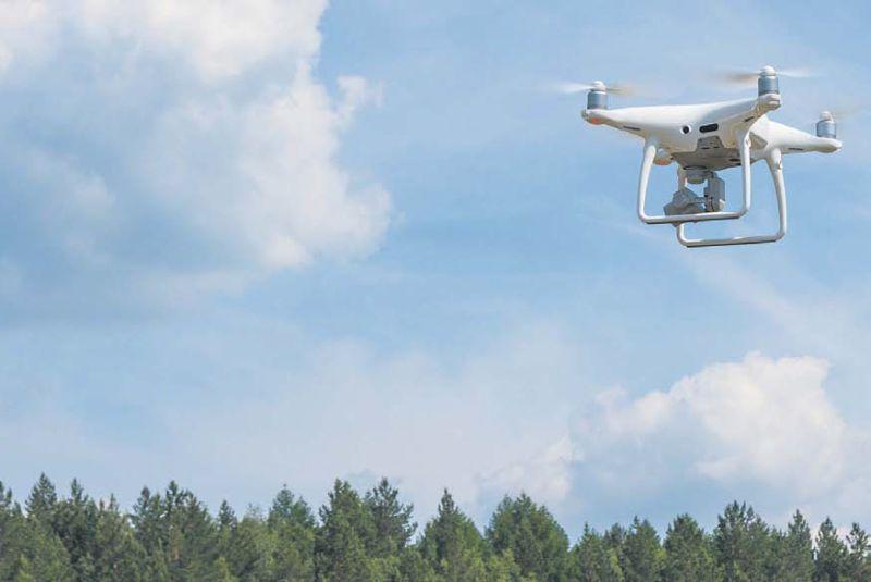 """""""LVM"""" rīcībā ir 70 droni, ar kuriem tiek uzraudzītas potenciālās ugunsbīstamās vietas, novērtēti vēju bojājumi kokaudzēs, uzskaitīti aizaugušie grāvji. """"LVM"""" grib panākt, lai drons spētu atpazīt koku sugas, pamanīt ērgļa ligzdu vai bebra aizsprostu."""