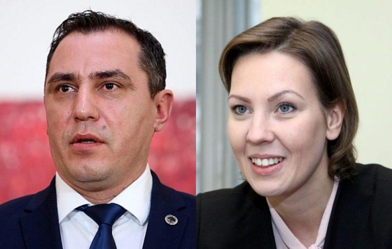 Sandis Riekstiņš un Anita Muižniece