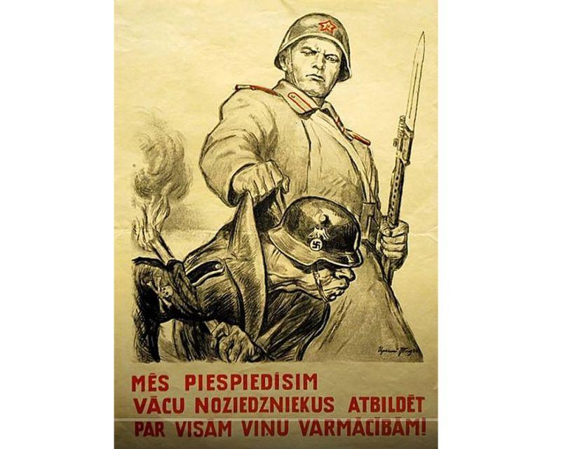 Propagandas plakāts.