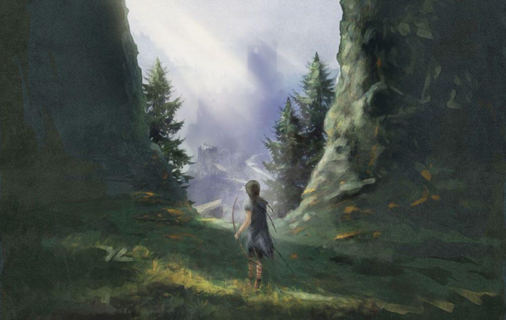 """Ilustrācija no grāmatas """"Ronja – laupītāja meita""""."""