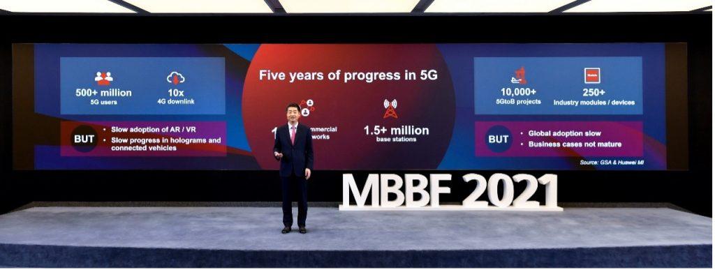 Kena Hju runa forumā MBBF 2021 par 5G attīstību.