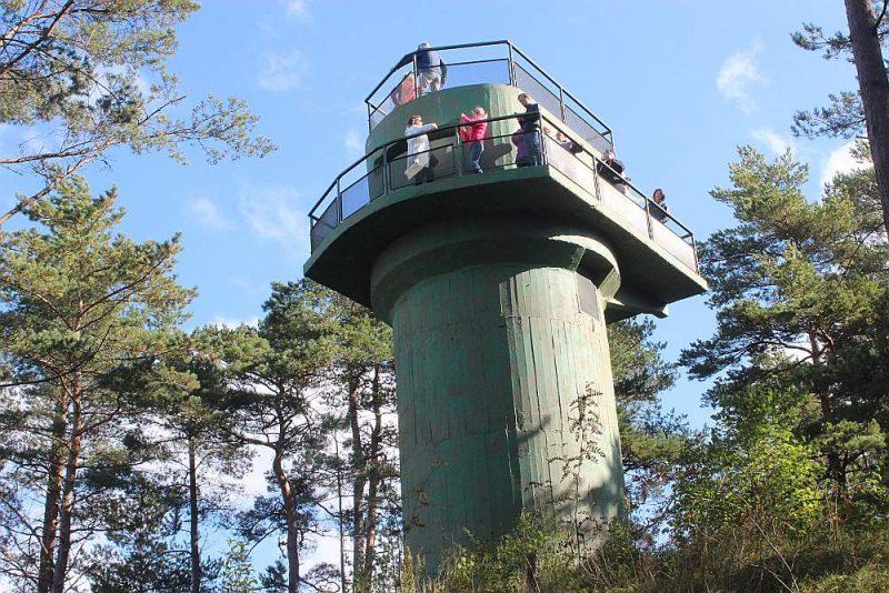 Ventspils 46. krasta baterijas ugunskoriģēšanas tornis ir vienīgā restaurētā šāda veida militārā būve Baltijas valstīs.